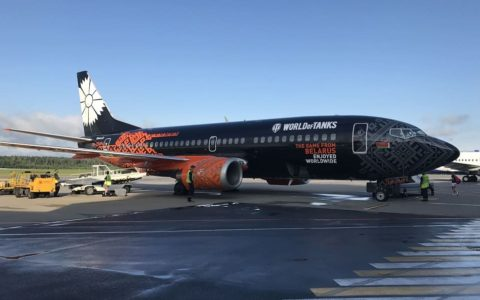 Belavia airplane