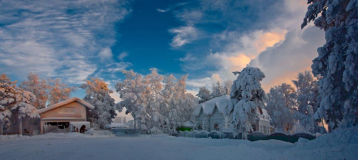 Природа Финляндии зимой