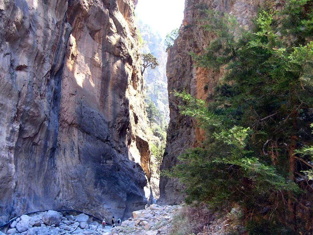 Самарийское ущелье на острове Крит в Греции