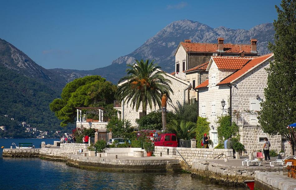 Пераст город в Черногории